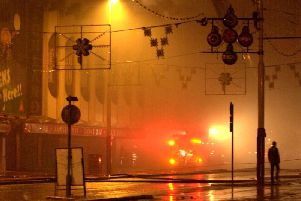 A huge fire tore through the heart of Blackpool's oldest area of the resort