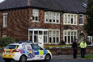 A police cordon in West Park Drive