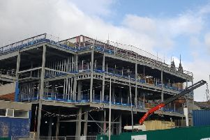 Work proceeding at the new conference centre