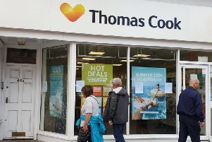 The Thomas Cook store in Scarborough, now closed. PIC: Richard Ponter