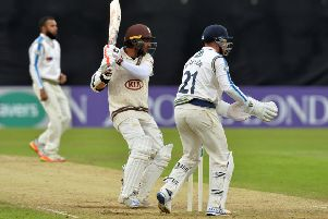 Kumar Sangakkara tormented Yorkshire for the third time this summer. (Picture: Bruce Rollinson)