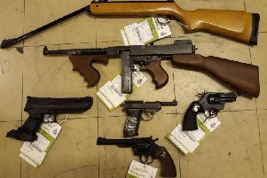 Weapons handed into North Yorkshire Police.