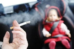 Smoking in cars carrying children was outlawed in October 2015.