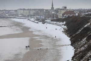 A snowy scene in Bridlington from last year.