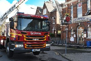 Firefighters at the Salvation Army in Bridlington
