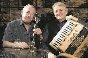 Fiddle player Aly Bain and accordion player Phil Cunningham