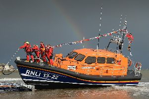 Bridlington's all-weather lifeboat was at sea for almost six-and-a-half hours.