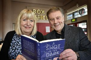 Lynne Truss with critic and Books by the Beach host Barry Forshaw