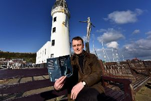 Conservationist Tom Nancollas outside Scarborough Lighthouse