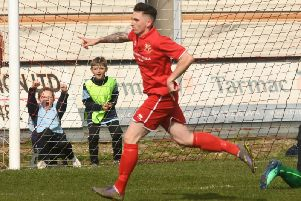 Joe McFadyen scored two for Brid at Athersley