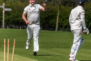 Seamer's Adam Morris shows his delight after comprehensively dismissing a Mulgrave batsman. Picture by Brian Murfield.