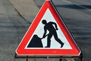 Roadworks in Bridlington
