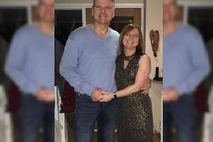 Peter with his wife Natalie.