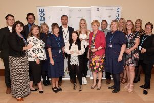 Bridlington Medical Health and Social Care Academy winners and partners