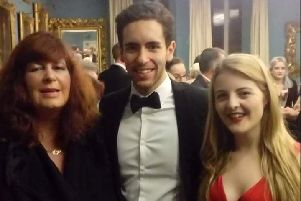 Mason Yousif pictured with mum Lesley Holmes (left) and girlfriend Leda Hadj (right).