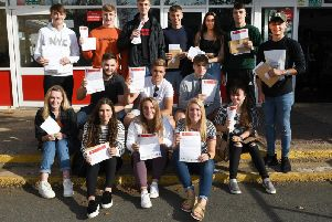 Students at Headlands School collected their results this morning