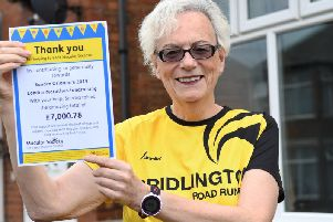 Sandra Orlando has a thanked the Bridlington Free Press for the support they gave her in raising a large sum of money for the The Beat Macular Disease campaign