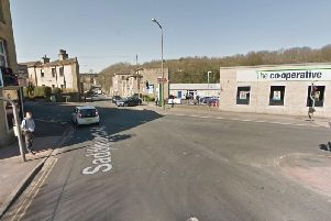 The current four-way traffic lights at the junction of Stainland Road and Saddleworth Road by the Co-op supermarket will be replaced by four-way temporary traffic lights. Picture: Google Street View.