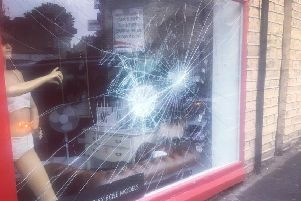 A window at Anon Lingerie in Elland was broken for the second time in two weeks.
