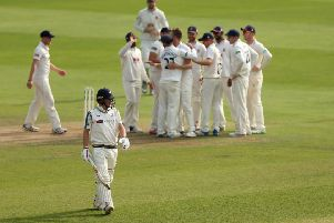 Yorkshire captain Gary Ballance walks off after being dismissed during Yorkshire's second innings at Essex, the team all out for 74 - their lowerst first-class total since 1999.. Picture: Steven Paston/PA