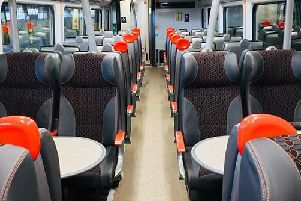 A look inside one of the newly refurbished trains