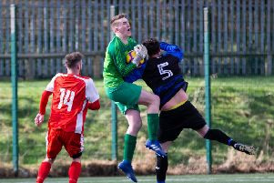 Shelf keeper Ethan Daly in the game againsr Red Star which was later abandoned