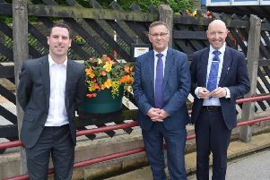 MP Craig Whittaker has sponsored one of the floral displays at Brighouse Station.