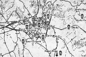 A map of Burnley's boggarts