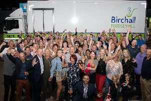 The Birchall team celebrate the firms 80th anniversary. Photo: JDR Photography