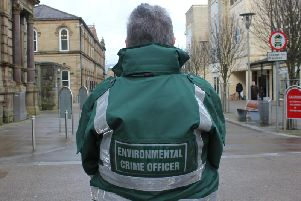 A District Enforcement officer on the streets of Pendle
