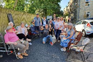 Neighbours held a street party to celebrate