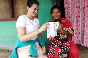 Charlotte Frost on her three-month charity trip to Nepal.