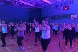 Burnley folk at the Les Mills class in the St Peter's Leisure Centre