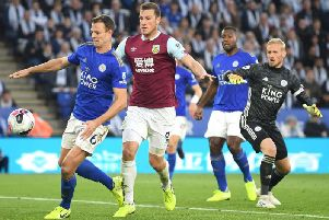 Jonny Evans puts the ball in to his own net, but referee Jon Moss rules the goal out following a VAR check