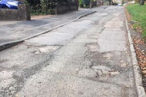The damaged stretch of Marsden Road