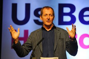 Alastair Campbell speaking at the launch of the People's Vote North in Leeds in June. Pic: Steve Riding