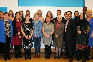Some of the staff who received Long Service awards