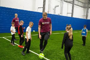 Ben Mee and Charlie Taylor show the kids how it's done