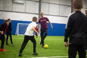 Ben Mee bamboozles the kids with some deft footwork