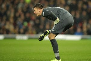 Nick Pope in action for Burnley.