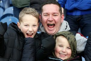 Burnley v Leicester fan photos. Credit: Rich Linley/Camera Sport