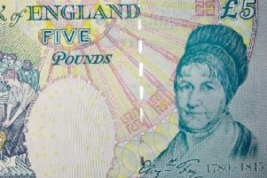 Elizabeth Fry on the five pound note