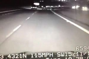 The driver was caught speeding at 115mph on the M65