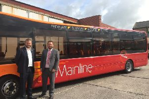 Pendle MP Andrew Stephenson with Alex Hornby from Transdev