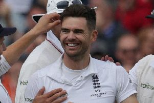 Lancashire and England's James Anderson.