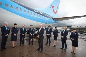 TUI's new Boeing 737-8 MAX aircraft