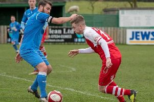 Brad Lynch takes on Padiham's Ben Hoskin