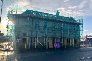 Scaffolding has been erected at the former General Havelock pub in preparation for demolition work to start.