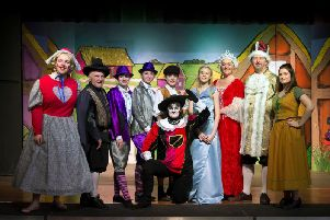 The principal cast of Puss in Boots, which is being performed at Sion Baptist Church this week. (s)