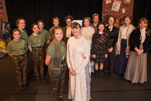 The cast of For Your Tomorrow We Gave Our Today from Blessed Trinity RC College in Burnley.